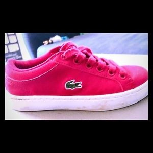 Girls size 11 Lacoste leather shoes